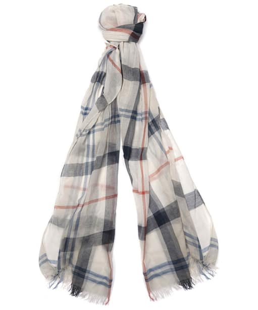 Women's Barbour Summer Dress Tartan Wrap - Cream / Navy
