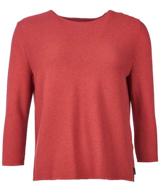 Women's Barbour Cross Back Crew Neck Sweater - Rust