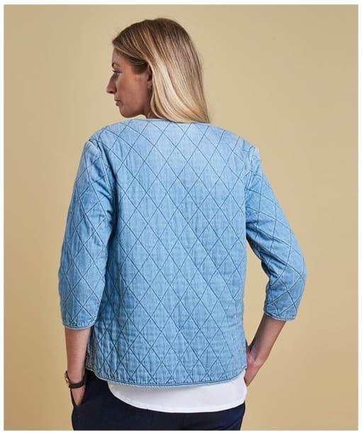 Women's Barbour Ros Overshirt - Bleach Wash