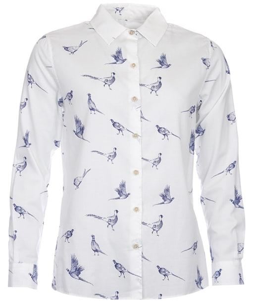 Women's Barbour Safari Printed Shirt - Cloud Print