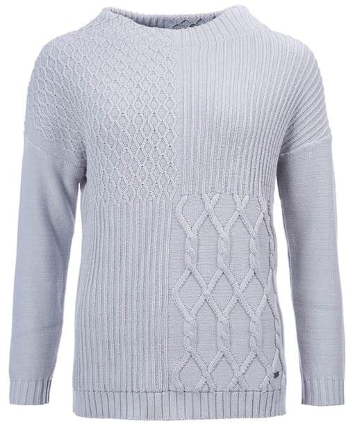 Women's Barbour Block Texture Knit Sweater - Glacier