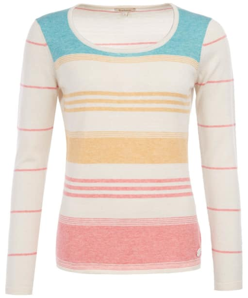 Women's Barbour Current Knit Sweater - Cloud / Coral