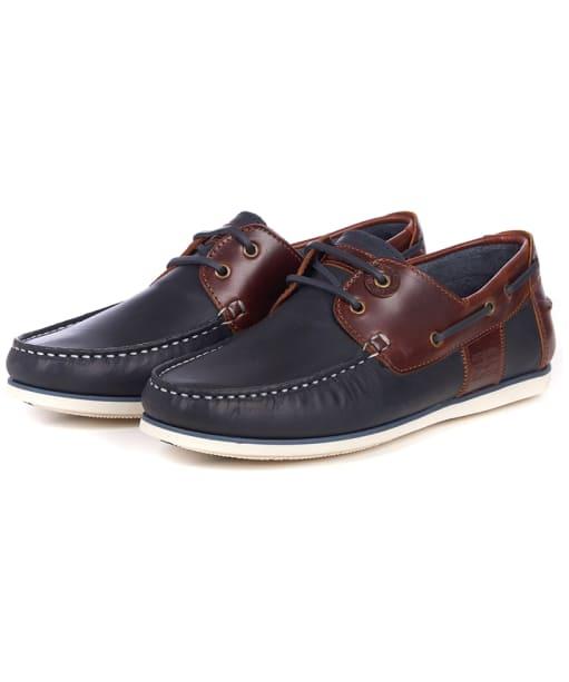 Men's Barbour Capstan Boat Shoes - Navy / Brown