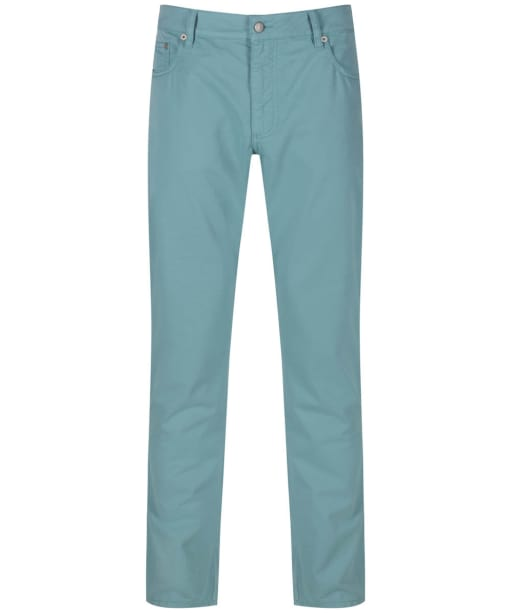 Men's Hackett Trinity Twill Five Pocket Trousers - Sea Foam