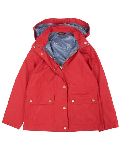 Girl's Barbour Cirrus Waterproof Jacket, 10-15yrs - Red
