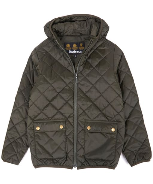 Boys Barbour Lawers Quilted Jacket, ages 10-15 - Sage
