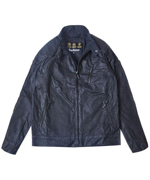 Boys Barbour Spoke Wax Jacket, ages 2-9 - Black