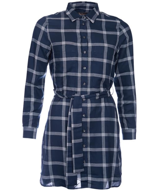 Women's Barbour Forfar Dress - Navy / Cloud