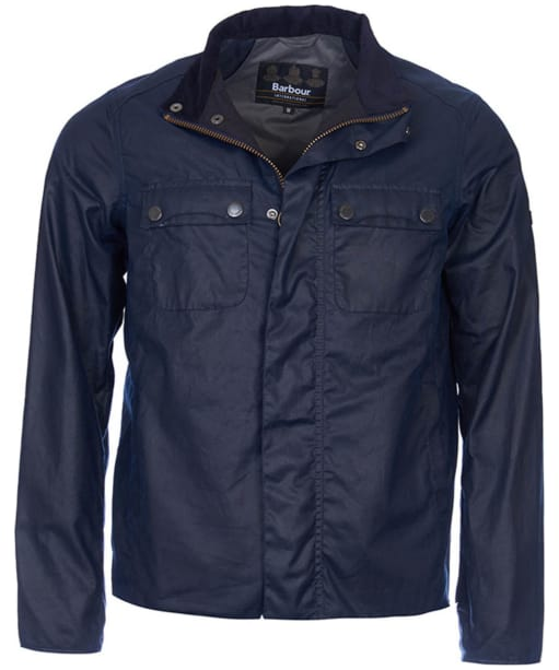 Men's Barbour International Lock Wax Jacket - Indigo