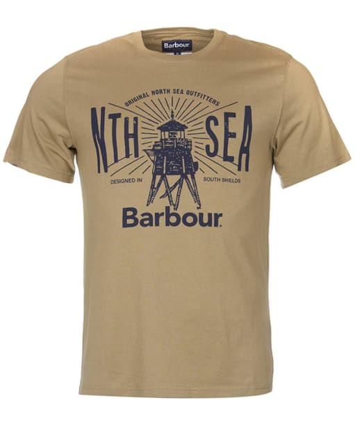 Men's Barbour North Sea Tee - Mushroom
