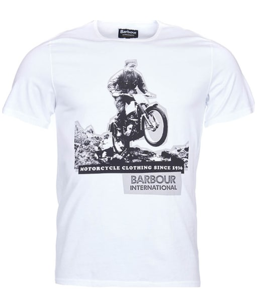 Men's Barbour International Hill Climb Tee - White