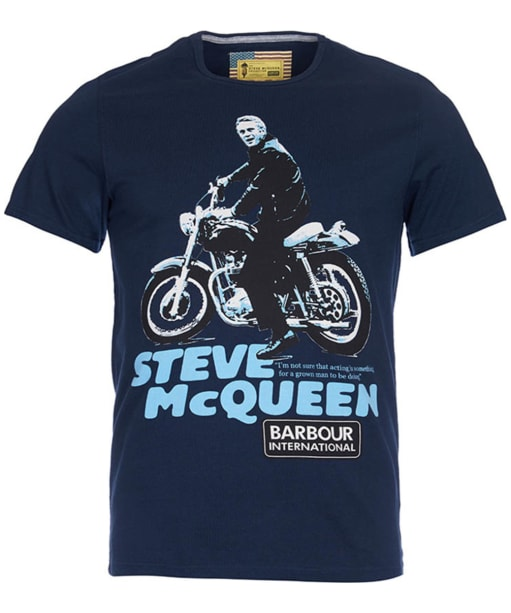 Men's Barbour Steve McQueen Park Tee - Navy