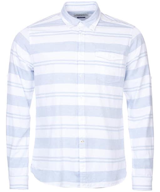 Men's Barbour Harbour Striped Shirt - White Stripe