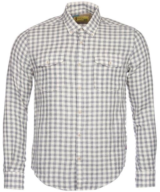 Men's Barbour Steve McQueen Wit Shirt - Grey Marl Check