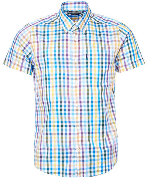 Barbour Russell Short Sleeve Shirt - Purple Check