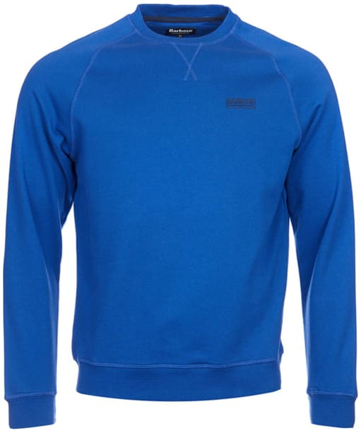 Men's Barbour International Small Logo Crew Neck Sweater - Atlantic Blue