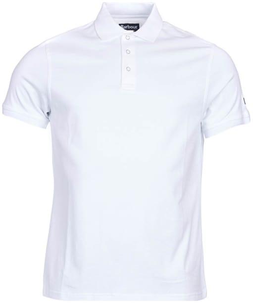 Men's Barbour International Lydden Polo Shirt - White