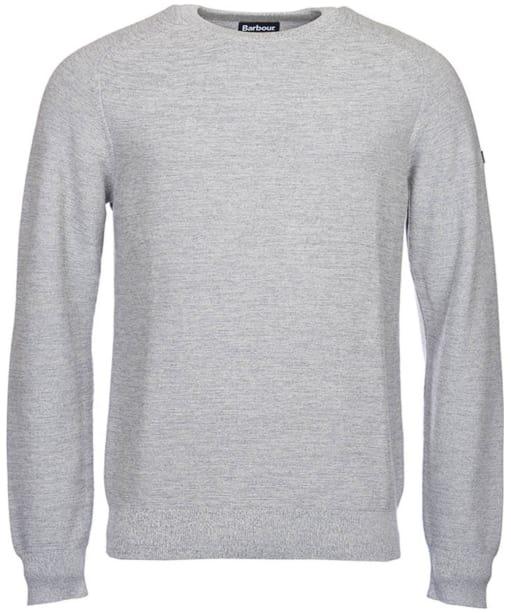 Men's Barbour International Silverton Crew Neck Sweater - Grey Marl