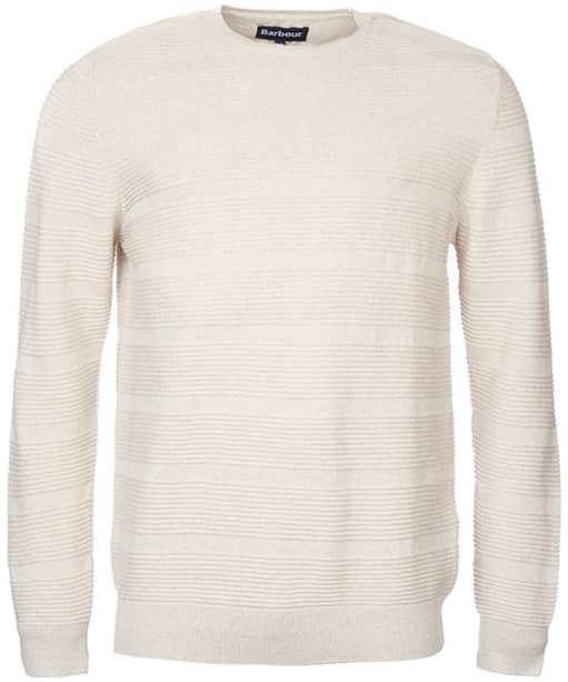 Men's Barbour Belsay Crew Sweater - Ecru