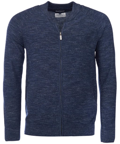 Men's Barbour Breaker Zip Through Sweater - Navy