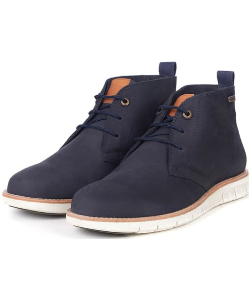 Men's Barbour Burghley Boots - Navy