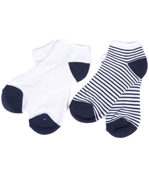 Women's Barbour Scarp Socks - Navy / White