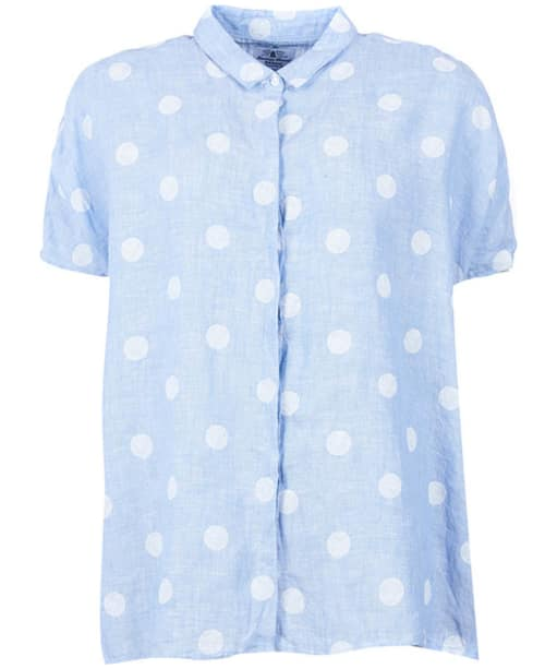 Women's Barbour Short Sleeved Polka Dot Shirt - Chambray