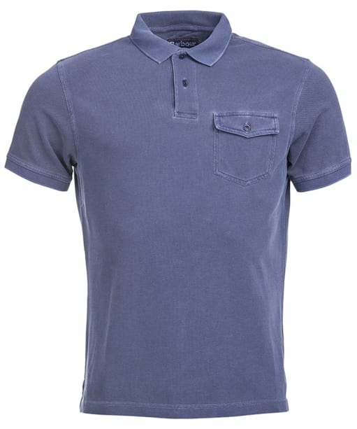 Men's Barbour Longsand Polo Shirt - Admiral Blue