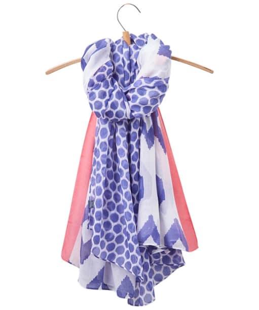 Women's Joules Harmony Scarf - Pool Blue Ikat