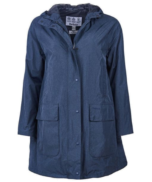 Women's Barbour Long Length Hooded Bedale Jacket - Navy Marl
