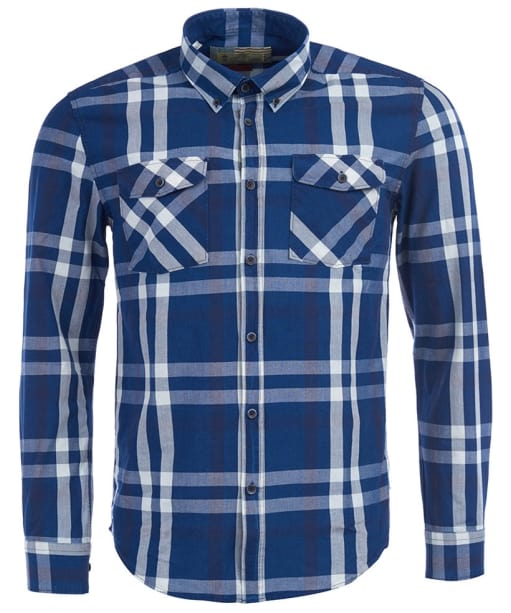 Men's Barbour Steve McQueen Beach Grove Shirt - Indigo Check
