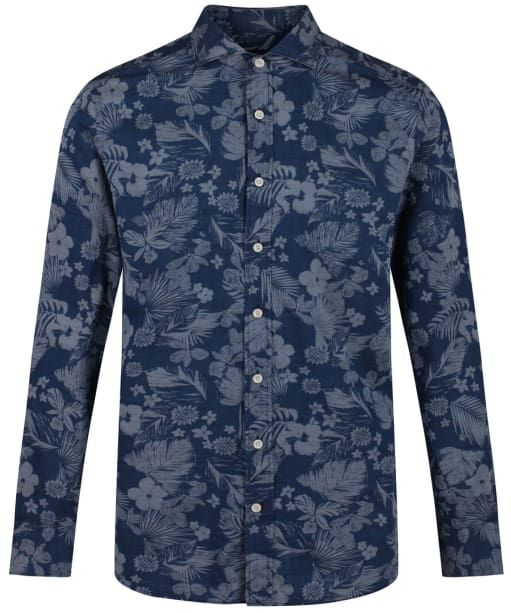 Men's Hackett Hawaii Lotus Shirt - Blue