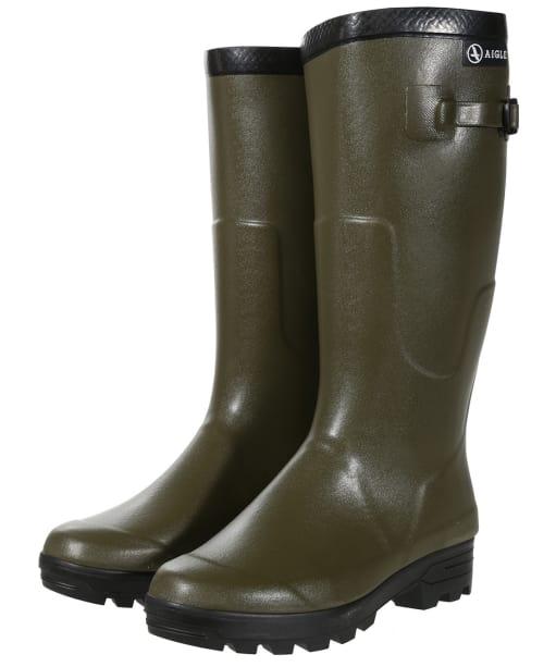 Aigle Benyl Iso Wellington Boots - Khaki