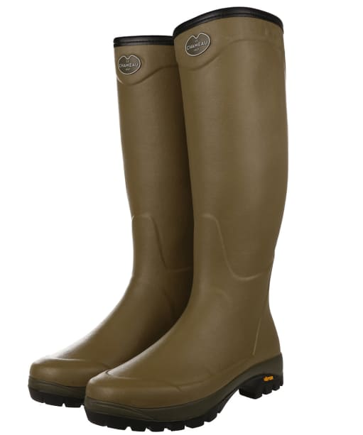 Le Chameau Country Vibram Wellington Boot - Green