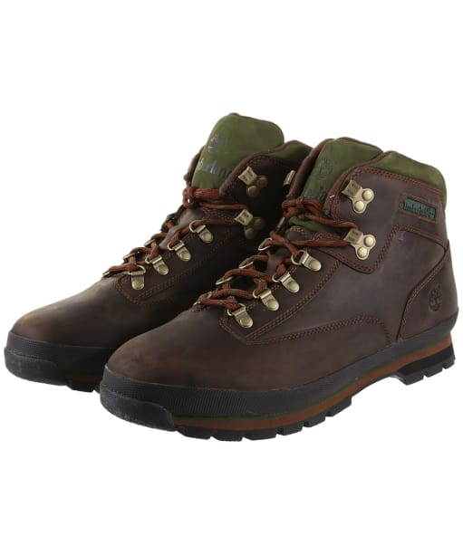 Men's Timberland Euro Hiker Boots - Brown Smooth