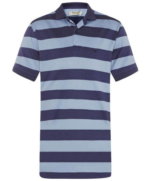 Men's R.M Williams Rod Stripe Polo Shirt - Blue / Navy
