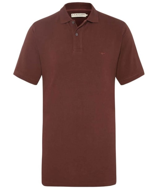 Men's R.M Willliams Rod Polo Shirt - Burgundy