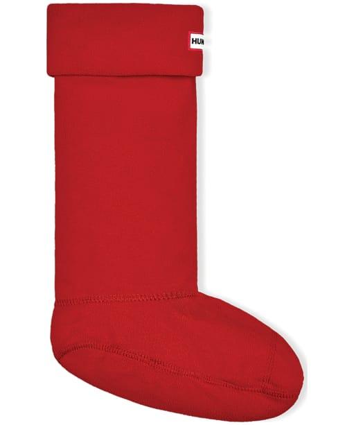 Hunter Fleece Welly Socks Adult - Military Red