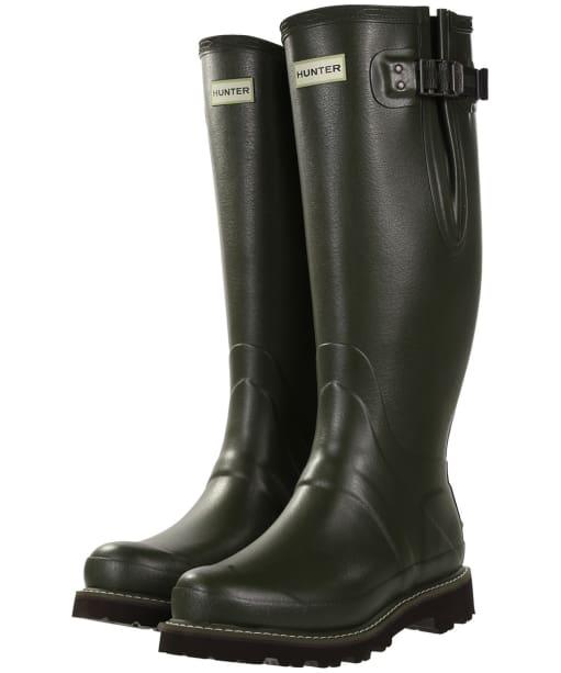 Men's Hunter Field Balmoral Poly-Lined Wellington Boots - Dark Olive
