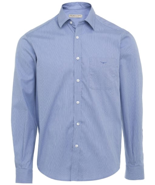 R.M. Williams Collins Regular Shirt - Blue / White