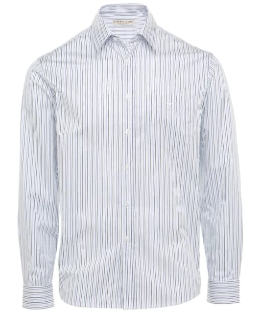 Men's R.M. Williams Collins Shirt - White / Navy / Blue