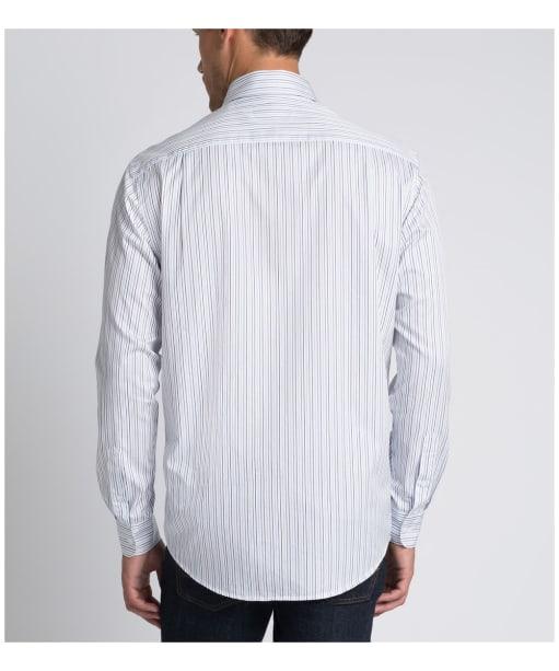 Men's R.M. Williams Collins Shirt - White / Navy / Blue