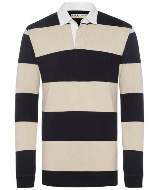 Men's R.M. Williams Tweedale Rugby Shirt - Navy / Bone