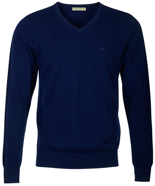 Men's R.M. Williams Harris V-Neck Sweater - Navy