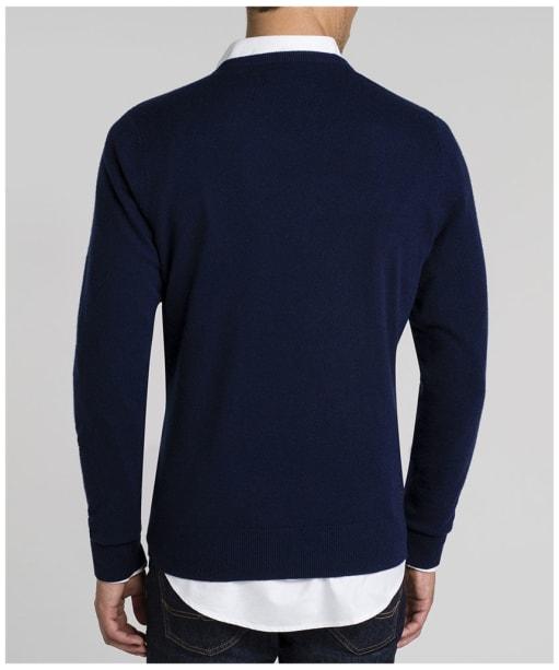 Men's R.M. Williams Harris V-Neck Sweater - Navy