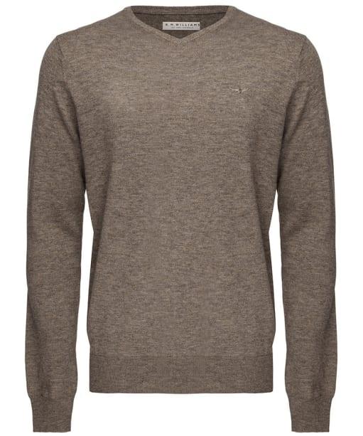 Men's R.M. Williams Harris V-Neck Sweater - Taupe