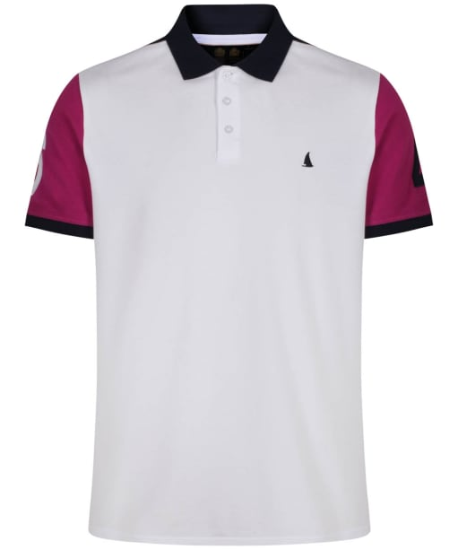 Men's Musto Helmsman Polo - White / True Navy / Ensign Pink