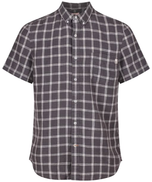 Men's Timberland Mill River Linen Check Shirt - Ebony