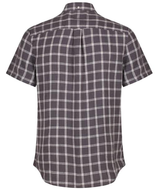 Men's Timberland Mill River Linen Check Shirt - Ebony