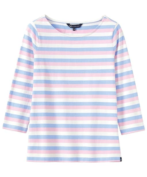 Women's Crew Clothing Ultimate Breton Top  - White / Blue / Pink